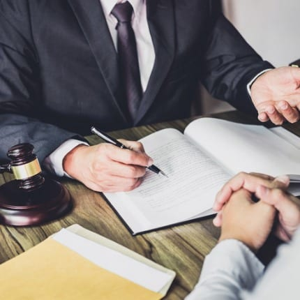 Business Litigation Attorney Helping Client