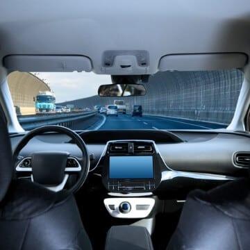 Interior Of Driverless Vehicle