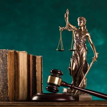 Gavel & Justice Statue
